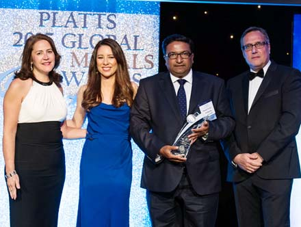 """Platts Global Metal Awards Savoy Hotel London"""